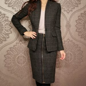 J. Crew two pieces 100% wool jacket skirt set